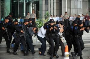 INDONESIA-ANTI-TERROR-DRILL