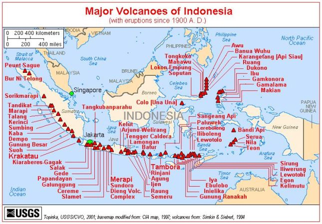 Berikut daftar 83 gunung api Indonesia yang tercatat di wikipedia :
